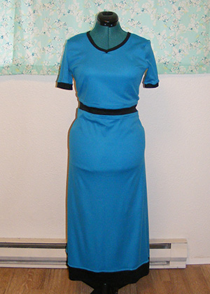 Blue Jet Set Knit Dress - Front