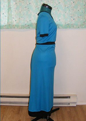 Blue Jet Set Dress - Side