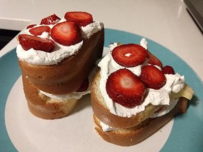 Chiffon Strawberry Shortcake