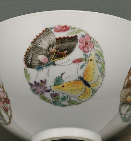 Chinese bowl with butterflies
