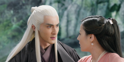 Screenshot of Donghua and Fengjiu during the final battle against the Demon Lord