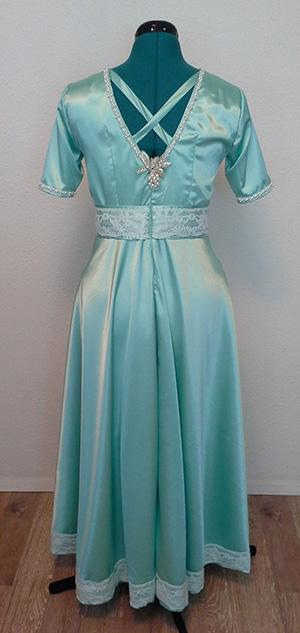 TK's wedding dress, back