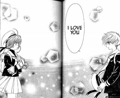 Full page confession in manga