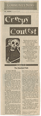 Scan of The Haunted Path, published October 28, 1997