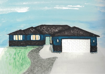 Watercolor of my house