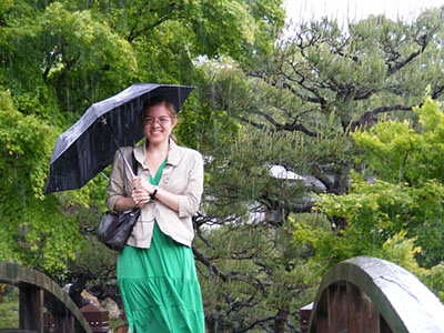 In the rain at Hikone castle