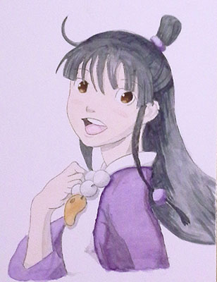 Maya Fey in Watercolor