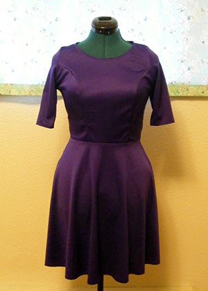 Purple Ponte Dress - Front