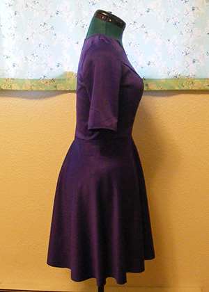 Purple Ponte Dress - Side