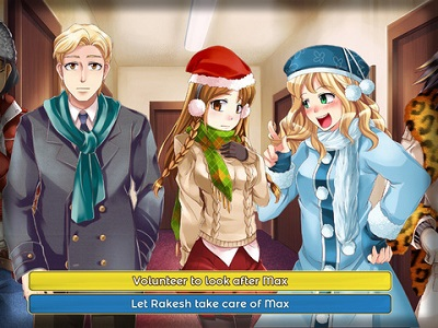 Demonstration of choice in a visual novel
