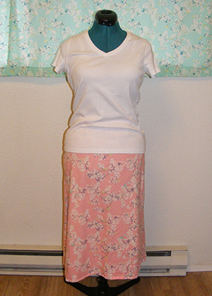 Yinghua Jersey Skirt - Front